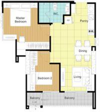 The Bloom @Sukhumvit 71, 2 Bedrooms 1 Bathroom