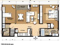 The Circle Condo Phase II, 1 Bedroom